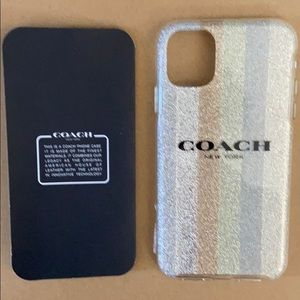 COACH iPhone 11 Shockproof Case Glitter Americana